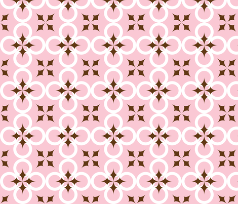 Pink Mod Circle fabric by audreyclayton on Spoonflower - custom fabric