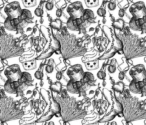 Steampunk Cupcake fabric by poshcrustycouture on Spoonflower - custom fabric
