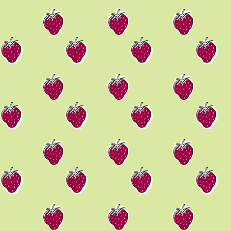 Strawberry Sundae fabric by woodledoo on Spoonflower - custom fabric