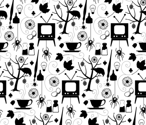 Black & White fabric by jennartdesigns on Spoonflower - custom fabric