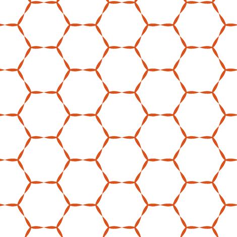 Honey Hive in tangerine  fabric by lana_kole on Spoonflower - custom fabric