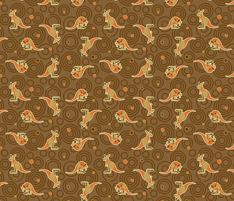 Aussie Kangaroo fabric by cjldesigns on Spoonflower - custom fabric