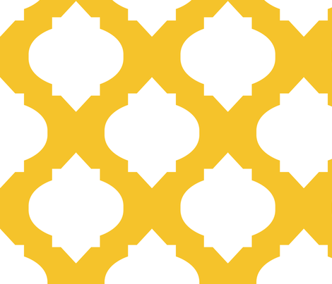 Medallions in Sunny Yellow fabric by katphillipsdesigns on Spoonflower - custom fabric