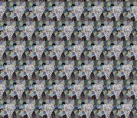 Love Collage fabric by cricketswool on Spoonflower - custom fabric