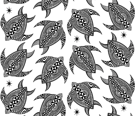 Turtle Tapa fabric by spellstone on Spoonflower - custom fabric