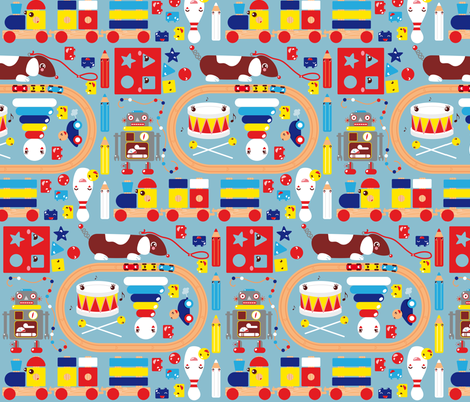 Toys design fabric by verycherry on Spoonflower - custom fabric