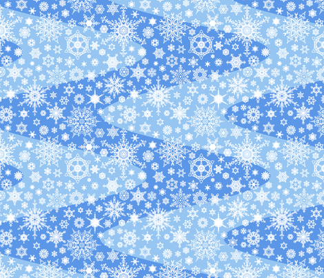 Snowflake Waves - Blue fabric by siya on Spoonflower - custom fabric