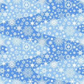 Snowflake Waves - Blue