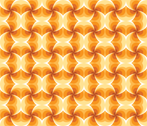 Sunset Spiral Intersections fabric by abqdesign on Spoonflower - custom fabric