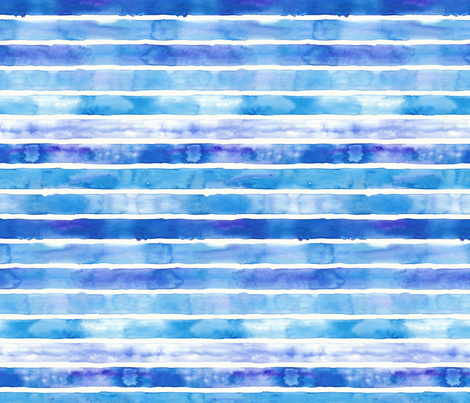 Thin Stripes Blue and Purple fabric by fussypants on Spoonflower - custom fabric
