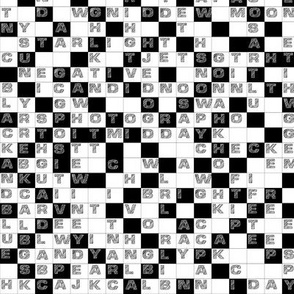 Black and White Word Puzzle