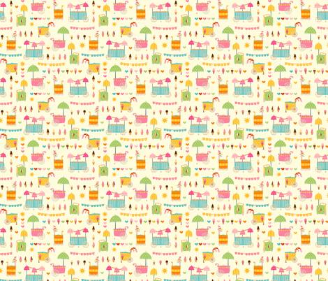 Fancy Ice Cream Carts fabric by abby_zweifel on Spoonflower - custom fabric
