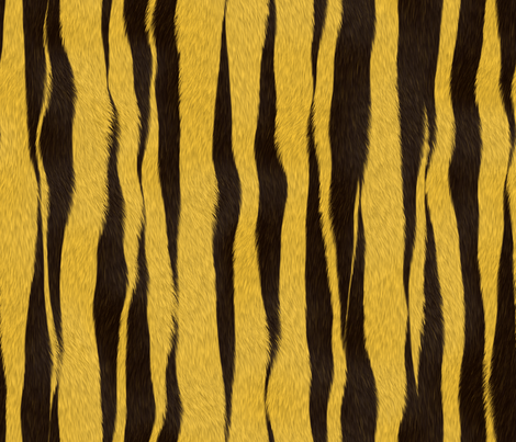 Yellow_Tiger_Skin fabric by animotaxis on Spoonflower - custom fabric