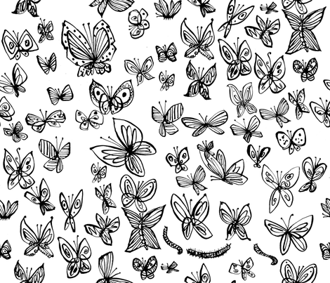 laurie_papillon fabric by cinqchats on Spoonflower - custom fabric