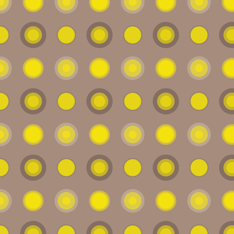 Glowing suns in grey skies fabric by illustro_perry on Spoonflower - custom fabric
