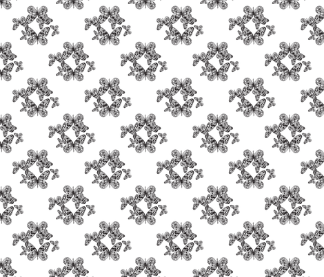 butterfly business fabric by moodymayi on Spoonflower - custom fabric