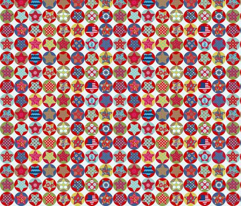 etoile_nuance_vintage_S fabric by nadja_petremand on Spoonflower - custom fabric