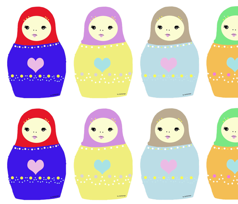 Matryoshka fabric by applejackkids on Spoonflower - custom fabric