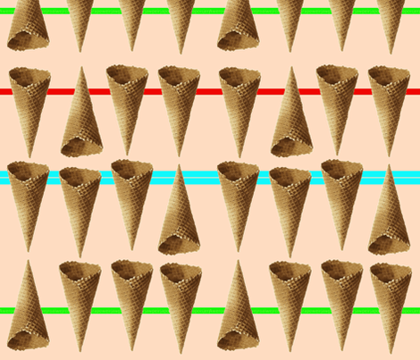 summercones fabric by koffeycakes on Spoonflower - custom fabric