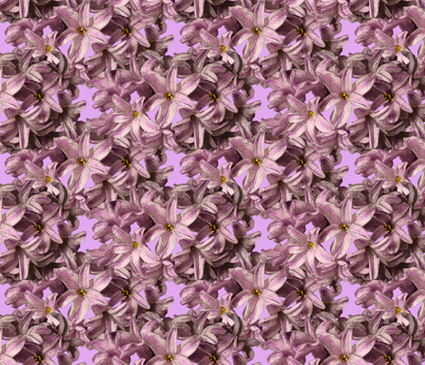 Hyacinth Flowers fabric by nezumiworld on Spoonflower - custom fabric
