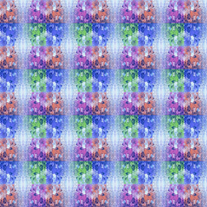 Mottled Blue Collage