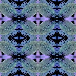 Blue Leaf Collage