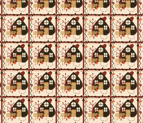 Autumn House Quilt fabric by eppiepeppercorn on Spoonflower - custom fabric