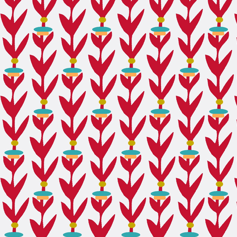 Vertical Red Leaf Stripes fabric by boris_thumbkin on Spoonflower - custom fabric