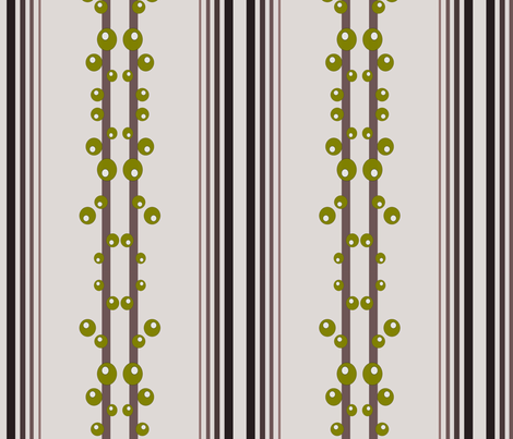 Retro Olive Branch fabric by 7monsters_t_inc on Spoonflower - custom fabric