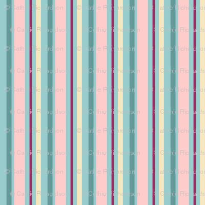 Aqua Blush Stripe