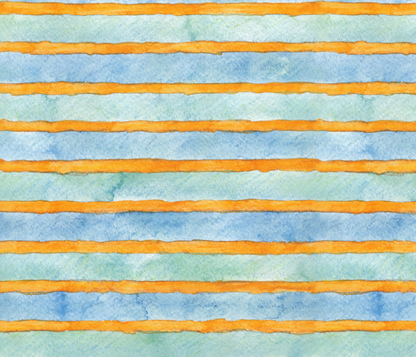 Green Wheels Wide Soft Stripes fabric by fussypants on Spoonflower - custom fabric