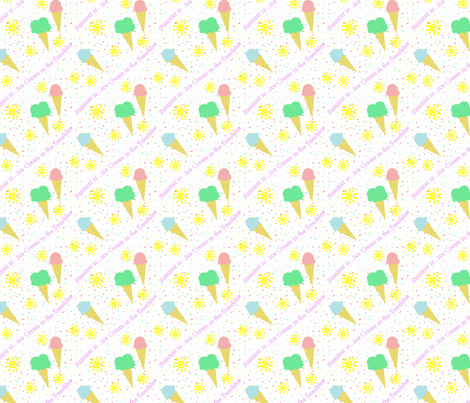Summer...is ice cream in the sunshine fabric by divawitch on Spoonflower - custom fabric
