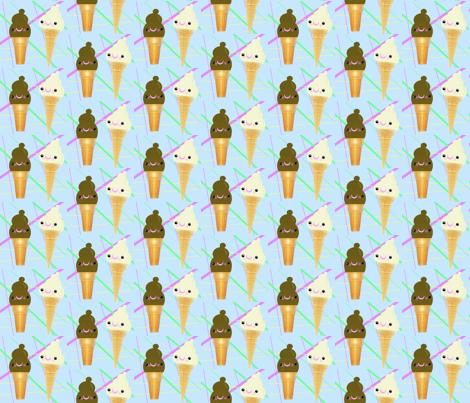 We all scream for ice cream! fabric by applejackkids on Spoonflower - custom fabric
