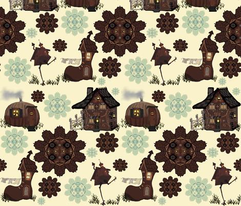 Storybook Houses fabric by kaerushisho on Spoonflower - custom fabric