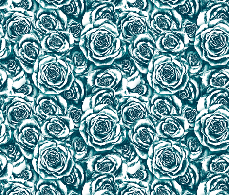 Sara's Roses fabric by twobloom on Spoonflower - custom fabric