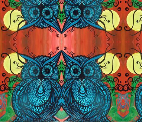 Blue fabric by heatherpeterman on Spoonflower - custom fabric