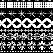 Ornamental Stripes (Black & White) || typography geometric ornaments stripes hearts stars