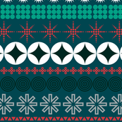 Ornamental Stripes (Red & Green) || Christmas holiday typography geometric ornaments stripes hearts stars