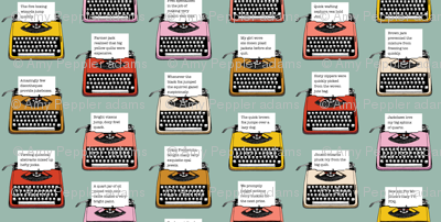Pangram Typewriters* (Camouflage) || vintage retro typewriters text typography poetry geek office