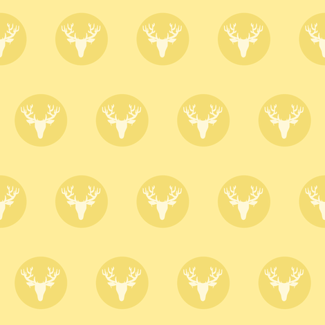 Deer Dots fabric by pond_ripple on Spoonflower - custom fabric