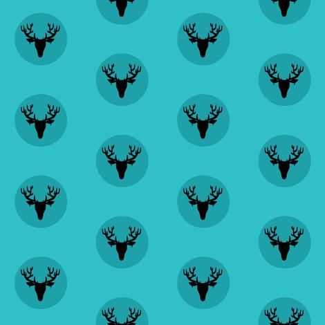 Deer Dots fabric by pond_ripple on Spoonflower - custom fabric
