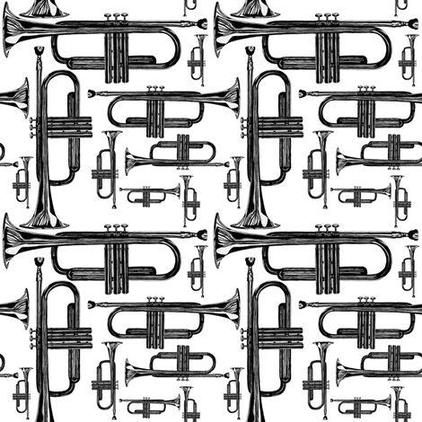 trumpet fabric by jaydesign on Spoonflower - custom fabric
