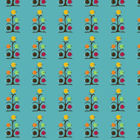 Rainbow Birds  fabric by noelle*nikas on Spoonflower - custom fabric