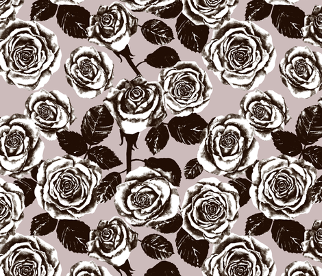 Mauve Roses fabric by twobloom on Spoonflower - custom fabric