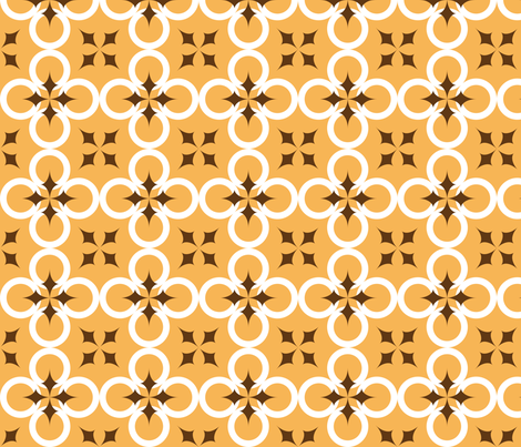 Light Orange Mod Circle fabric by audreyclayton on Spoonflower - custom fabric