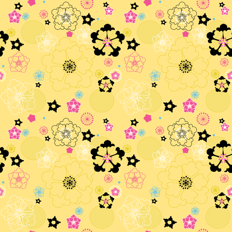 Bright Summer Garden -  © PinkSodaPop 4ComputerHeaven.com fabric by pinksodapop on Spoonflower - custom fabric