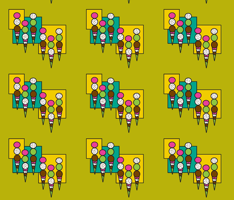 ice cream cones fabric by cherthebear on Spoonflower - custom fabric