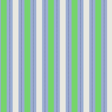 Green Blue Stripe fabric by countrygarden on Spoonflower - custom fabric