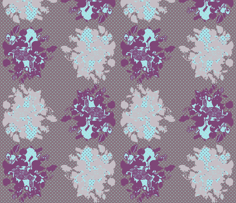 rabbit wallpaper fabric by katarina on Spoonflower - custom fabric