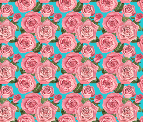 Joan's Dusty Roses 2 fabric by twobloom on Spoonflower - custom fabric